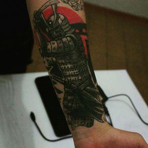 #samurai #tattoo #arm #japanesetattoo #warrior #blackandgrey #sword #tattooed #electricinkbrasil #brasil #minas