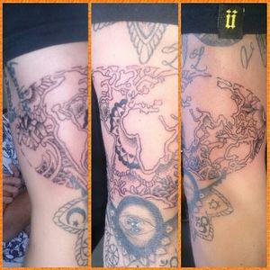 #pipobazinga #ink #tattoo #worldtattoo #maptattoo #tattooapprentice #earthtattoo #mandalatattoo