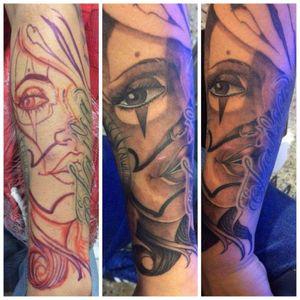 #freehandtattoo #tattoo #chicanostyle #arileonardotatuajes #tattoobogota #colombia  @arileonado7