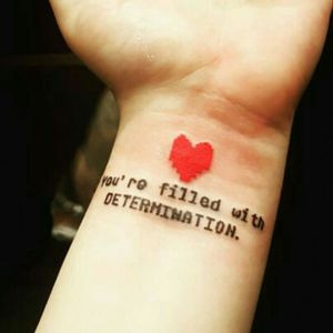 #dreamtattoo would love this Undertale tattoo!