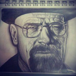 Portrait of heisenberg aka walter White #Portrait #walterwhite #heisenberg #breakingbad