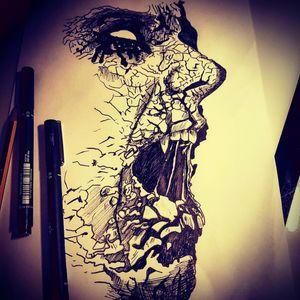#demon #vampire #dark #gothic #horror #drawing #sketch #mydrawing #tat #tatt #tattoo #tattooartist #nopain #nogain #swag #cool #instattoo #likemypic #uk #england