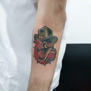 Tatuagens Clássicas para pessoas de bom gosto #tattoo #tatuagem #tattooflash #classictattoo #bulldog #oldschool #militarytattoos