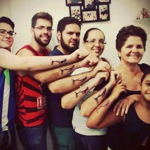 """""""Balieiro's"""" baleia tattoo (The little girl's is not for real, obvious)"""