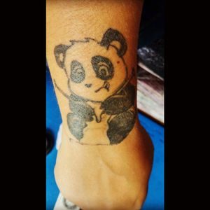 Knitting panda!  #knittingpanda #panda #pandatattoo