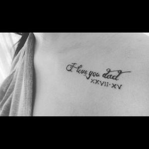 #tatuaje #iloveyoudad #claviculas