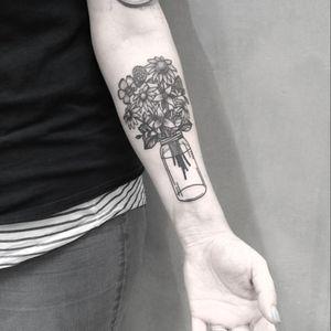 More crazy flowers done by Juju #blackandgrey #blackwork #tattoo #juju #flower #flowers