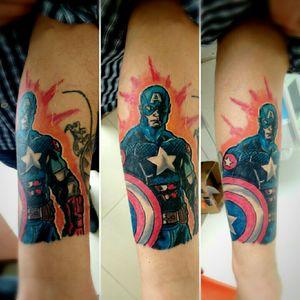 #captainamerica #tattoocomics gracias por la confianza Tattoo cómic #3