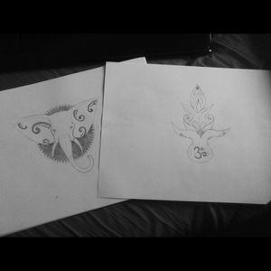🐘#mydrawings #simple #ohm #hippie #black #elephant
