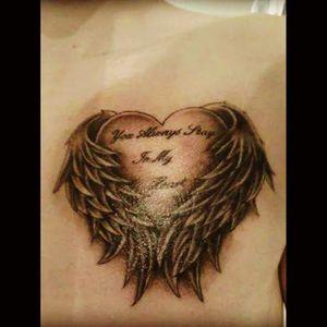 #firsttattoo #heart #angelwings