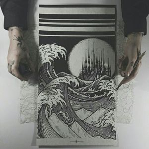 wave painting by Thieves of Tower #thievesoftower