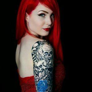 #sleeve #redhead #beauty