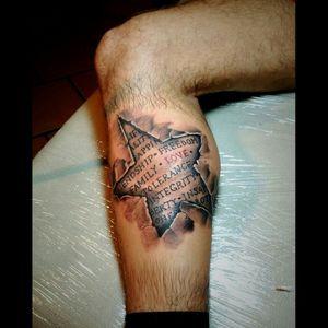 #3dtattoo #Star #tattoolettering