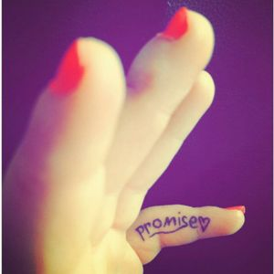 #pinkypromise #first #selfmade #tattoo