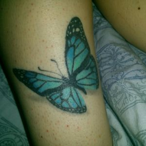 My beautiful butterfly! The Artist named cliona did AMAZING! #proudofmyink #butterflygirl #butterflytattoos #CollorTattoo