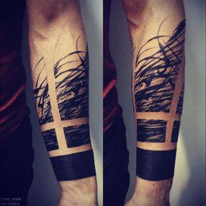 #blackwork #lines #amazingink #forearm #Black
