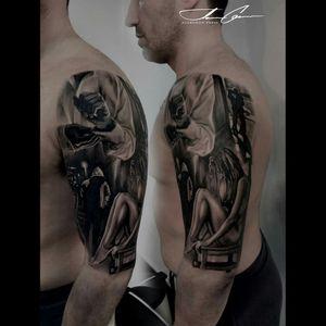 #blackandgrey  #blackandgreytattoo  #scenery #besttattoos  #woman  #gentleman #perfection #tattoo  #epic  #history  #Lightsout  #blackandgreyrealism