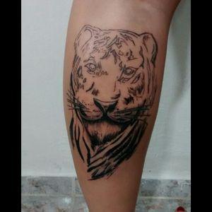 1° sessão pra irmã #tatuagem #tattoodoo #tatuaje #tattoo #tiger #tigertattoo #tigre #tigretattoo #criation #1session