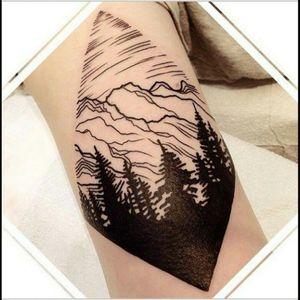 Beautiful blackwork nature tat, artist unknown #blackwork #trees #nature #cutout