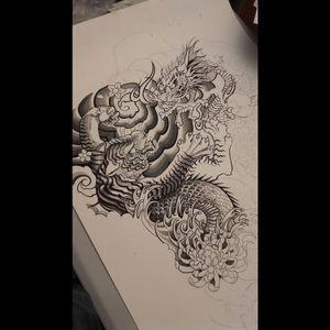 #tigertattoo #sketchtattoo #japanese #dragontattoo #peonies #Japaneseartwork