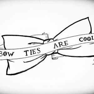 Bow tie tattoo idea for the doctor who lovers  #bowties #butterfly #bowtiesarecool #doctorwho #doctor #who #tattoo #idea #tattoodesign #line #blackandwhite #got #gameofthrones #fonts