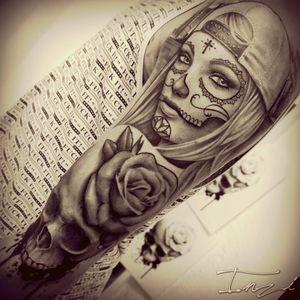 #Woman #Love #Tattooaddict #tattoos #Girl #Mexican #Skull #Cap #Tatuajes #Deathhead #Flower #yas #madremia #futur #waitingforthenexttattoo