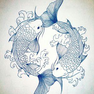 #koifish #drawing #japanesetattoo #horoscope #sea