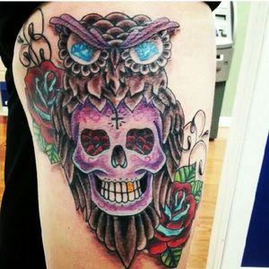 #owl #sugarskull #mainstreettattoo #sc