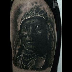 #blackandgrey #blackandgreytattoo #nativeamerican #american #indian #portraitartist #portait #blackandgreyportrait #history