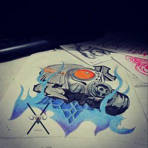 #BR #gasmask #tattoodesing #diseño #pensandoenelproximotattoo