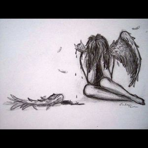 A broken angel...how I feel some days