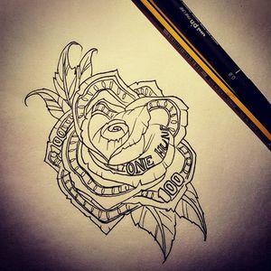 #money #rose #design #flower #tat #tatt #tattoo #tattooartist #swag #cool #penandpaper #instattoo #uk #kent #likemypic #nopain #nogain #dm