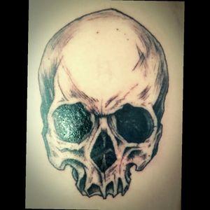 A little skull for my bro.  #tattooart #dotworktattoo #skulltattoo #nationaltripleblackink #nedzrotary