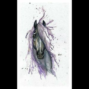 #watercolor #Friesian #horse #inspiration