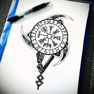 Sorry it's not a tattoo but it's for fans of Vikings like me #Vikings #Runes #celticrunetattoos