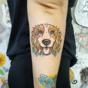 #dogtattoo #cockerspaniel #doglovertattoo #colortattoo #dotwork #pontilhismo #ppntilhismotattoo #tattoorj #tattoobrazil #aquilatattoo #carolinahelenaart