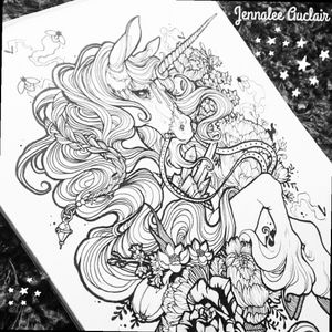 LADY UNICORN! 🐴 By Audra Auclair #megandreamtattoo