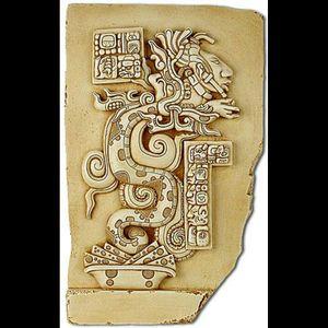 Mayan carving.