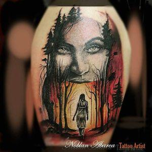 This my work #tattoo #surrealistic #surrealismtattoo #CostaRicaTattoo #noblan_abarca_tattoo_artist #fullcolor