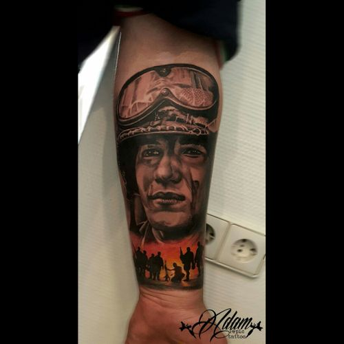 #army #armytattoo #pilot #inkmachines #killerink #portrait #blackandgrey #tattoo #tattoohistory #dreamtattoo #portraitartist