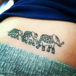 Elephants 💜 #elephanttattoo #delicatetattoo #tattooedgirl