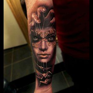 #dreamtattoo #inkmachines #masterofpuppets #puppet #portrait #tattoo