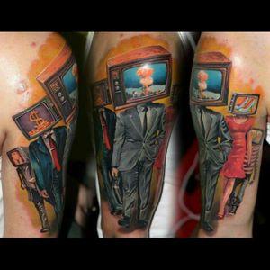 #dreamtattoo #MadTV #storytelling #original #originaldesign #color #apocalypse #tattoo