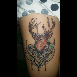 #deer #InkForGood #tattoo #vintagetattoos #bodymodification #TattooGirl