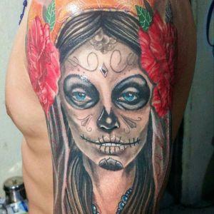 #catrina #tattoo #SunburnTattoo #mexicantattoo #mexicandeath #EduardoFrazao #KaLarraza #LauraAnunnaki #tattooartist