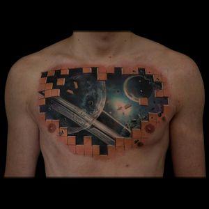 #tattoo #dreamtattoo #universe #sick #ink #epic #3dtattoo #getink3d #chestpiece