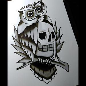 #oldschool  #owl  #skull #tattooflash  #coruja #traditional  #old #tattoos #blackworktattoo  #blackAndWhite  #caveiras  #lucasnascimento