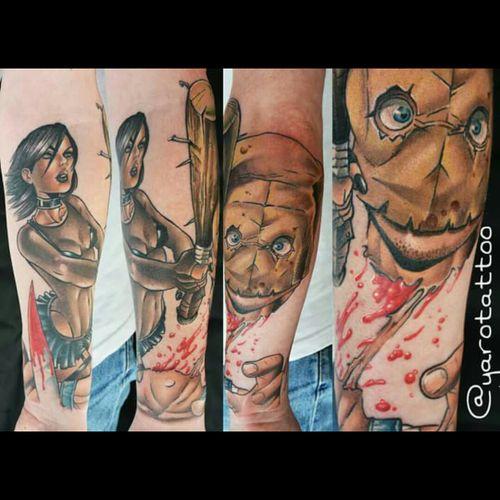 #hackslash #comic #comicbook #1stissue #bloody #halfsleeve #unfinished #yaro #yarotattoo