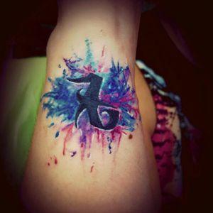 My last Tattoo #rune #loverune #watercolor