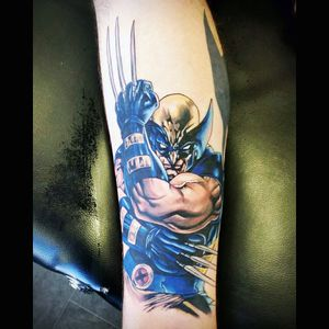 My Wolverine tattoo I think this is possibly my favourite tattoo. It was done by Jonny at Sorry Mum Studio, Manchester, UK. #tattoos #tattoo #legtattoo #leg #calftattoo #calftattoos #wolverine #marvel #comic #comics #comicbook #comicart #comicbooks  #marvelcomics #marvelcomicstattoo #MarvelTattoo #snikt #manchester #sorrymumtattoo #comicbooktattoos  #ComicBookTattoo #comiccharacter
